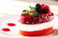 Картинка dessert, Raspberry, strawberries