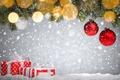 Картинка christmas, xmas, Рождество, balls, fir tree, snow, merry christmas, Новый Год, decoration