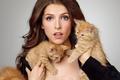 Картинка Anna, neko, girl, woman, kittens, model, Anna Kendrick, actress, cats