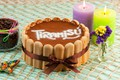 Картинка тирамису, свечи, торт