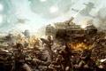 Картинка warhammer, люди, автоматы, танк, бойня, война, корабль
