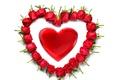 Картинка красные розы, romantic, rose, heart, Valentine's Day, сердце, red