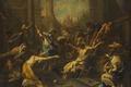 Картинка Воскрешение Лазаря, Алессандро Маньяско, мифология, масло, холст, картина