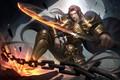 Картинка оружие, DOUKA-金, арт, парень, CG - D, воин