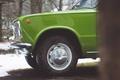 Картинка зелёный, Жигули, колесо, шина, ВАЗ-2101, ретро