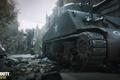 Картинка Call of Duty, Tank, Building, World War 2, WW2, Tracks, Ruins, COD 2017, Foreground