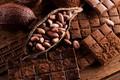 Картинка шоколад, орехи, боке, какао
