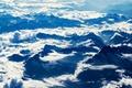 Картинка белый, облака, горы, фото, bo0xvn