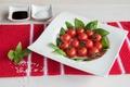Картинка овощи, помидоры, соль, базилик