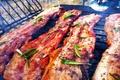 Картинка Meat, ribs, rosemary, Roast pancetta