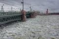 Картинка Sankt Petersburg, Bridge, Neva, Frozen