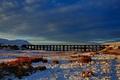 Картинка Batty Moss Viaduct, England, North Yorkshire, Северный Йоркшир, Англия, зима, виадук, снег, горы, мост, Ribblehead ...