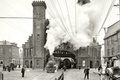 Картинка ретро, башня, паровоз, США