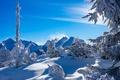 Картинка Alps, Austria, Штирия, Styria, деревья, зима, Австрия, снег, горы, сугробы, Альпы