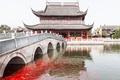 Картинка рыбки, мост, Китай, канал, храм, Цзинхан, Чжоучжуан, Восточная Венеция