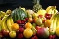 Картинка клубника, банан, фрукты, груша, ананас, манго, апельсин, яблоко, арбуз