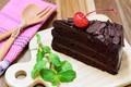 Картинка пирожное, chocolate, крем шоколад, мята