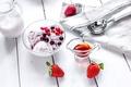 Картинка ягоды, клубника, мороженое, fresh, десерт, sweet, dessert, ice-cream, berries, milk
