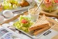 Картинка тосты, салат, бутерброд, яйца