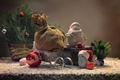 Картинка елка, подарки, сани, дед мороз, мешок
