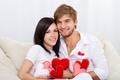 Картинка чувства, день Святого Валентина, Valentines Day, heart, девушка, lovers, feeling, пара, embrace, влюбленные, улыбка, романтика, ...