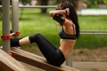 Картинка workout, abs, female, park, fitness