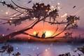 Картинка животные, by ryky, закат, природа