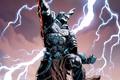 Картинка fantasy, Batman, lightning, comics, digital art, artwork, fantasy art, DC Comics, Ares, dark multiverse, Merciless
