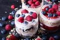 Картинка ягоды, малина, йогурт