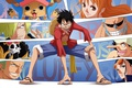 Картинка oriental, Juichinin no Choushinsei, asiatic, asian, mugiwara no Luffy, Super Novas, man, staw hat pirates, ...