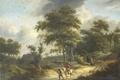 Картинка Пейзаж с Сокольничим, картина, масло, Roelof Jansz van Vries, холст