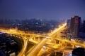 Картинка night, metropolis, city, lights, Freeway