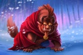 Картинка Beauty and the Beast, Disney, by tsaoshin, monster, fairy tales, snown, lion, blizzard, horn