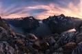 Картинка небо, горы, река, камни, скалы, панорама, фьорды