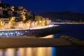 Картинка дома, Франция, ночь, Марсель, море, огни