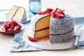 Картинка кокос, клубника, торт
