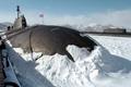 Картинка зима, подводная лодка, Проект 971