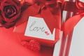 Картинка лента, red, love, romantic, hearts, valentine's day, gift, roses, красные розы