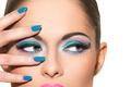 Картинка make-up, Painted nails, eyes
