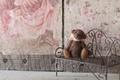 Картинка медвежонок, скамейка, лавочка, настроение, игрушка, плюшевый мишка