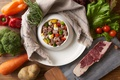 Картинка овощи, мясо, рагу