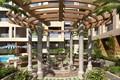 Картинка растительность, сооружение, MODERN APARTMENT, фонтан, POOL WITH OPEN GARDEN