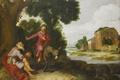 Картинка картина, мифология, Старый Пророк Встретил Божьего Человека, Ламберт Якобс