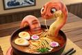 Картинка Snake - Danger Noodles, Michael Santin, ресторанчик, арт, змея, лапша, еда, удон, Udon, суп