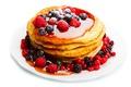 Картинка завтрак, мед, ягоды, блины