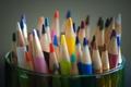 Картинка макро, цветные, карандаши, colorful, разноцветные, pencils, цветные карандаши