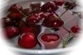 Картинка вода, вишня, ягоды, черешня
