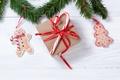Картинка Рождество, decoration, fir tree, cookies, merry christmas, gingerbread, Новый Год