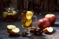 Картинка напиток, яблочный чай, корица, яблоки, кружка
