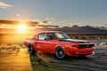 Картинка солнце, закат, Mustang, Ford, мустанг, форд, 1968
